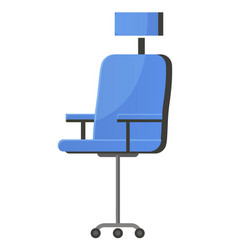 Armchair with wheels office sitting place vector