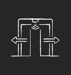 automatic door chalk white icon on black vector image
