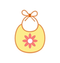 Baby bib flat icon vector image