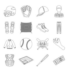 Ball helmet bat uniform and other baseball vector