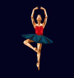 Ballerina prima polygonal triangle paper vector