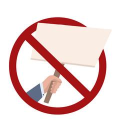 Ban on rallies flat businessman vector