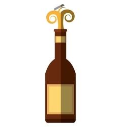 Beer bottle drink cap splash shadow vector
