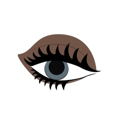 Body part female design eyes icon vector