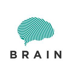 Brain logo design for modern technology science vector