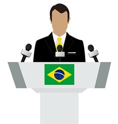 Brazil speaker tribune vector