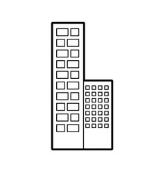 Buildings cityscape scene icon vector