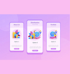 Business opportunity app interface template vector
