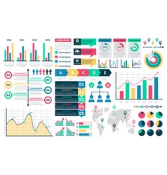 charts and diagrams graphical colorful schemes vector image