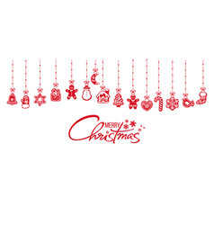 Christmas decoration gingerbread cookies hanging vector