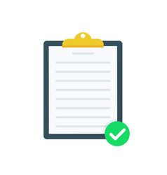 clipboard with green tick checkmarks checklist vector image