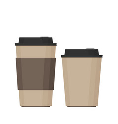 coffee cup flat set vector image