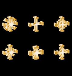 cross set cross vector image