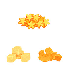 Design food and crunchy logo collection vector