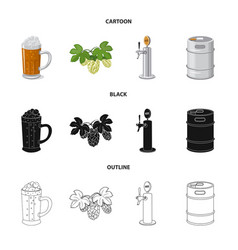 Design of pub and bar symbol collection of vector