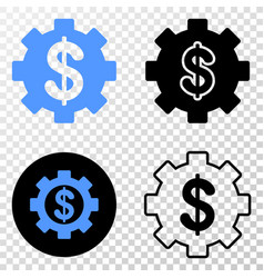 financial settings eps icon with contour vector image
