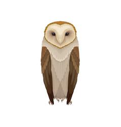 Flat icon barn owl nocturnal bird vector