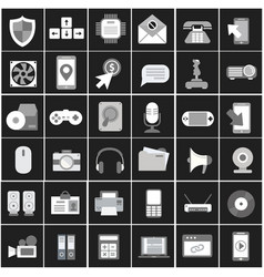 flat icons design modern big vector image