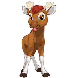 funny little moose child vector image