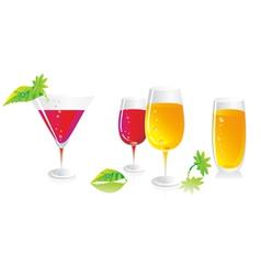 glasses for white wine vector image