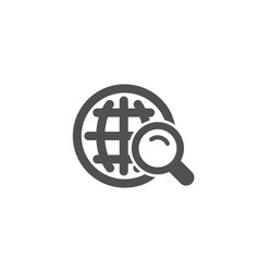 global search simple icon world sign vector image