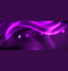 Glossy glowing neon light wave background vector