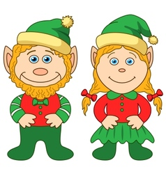 Gnomes boy and girl vector image