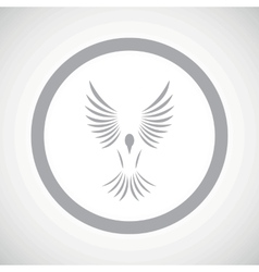 Grey bird sign icon vector