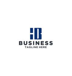 hb square logo design inspiration vector image