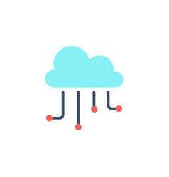 Hosting cloud icon vector