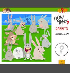 How many rabbits educational task vector