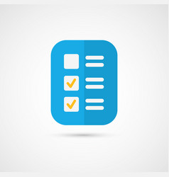 Icon of cool check list vector