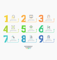 Infographic number template vector
