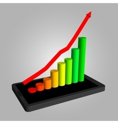 Infographics showing growth in sales of vector image