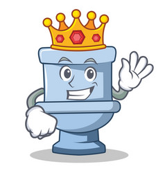 King toilet character cartoon style vector