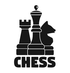 Logic chess game logo simple style vector