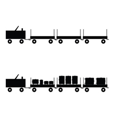 luggage carts in black color vector image