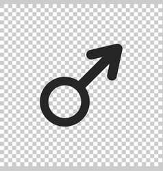 Male gender symbol icon on transparent background vector