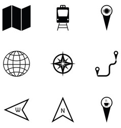 Map icon set vector