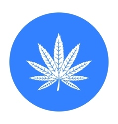 Marijuana leaf icon in black style isolated on vector