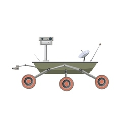 Mars exploration rover icon cartoon style vector