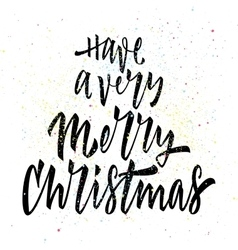 Merry Christmas Calligraphy Lettering vector