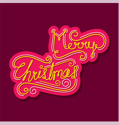 Merry christmas greeting or poster design vector