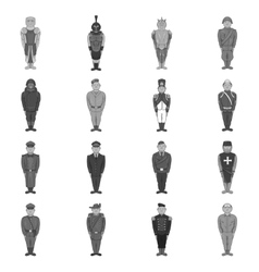 Military army soldiers uniform icons set vector
