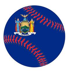 new york flag baseball vector image