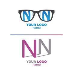 nn logotype letter sign letter n set letter n vector image
