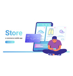 online store e-commerce mobile app vector image