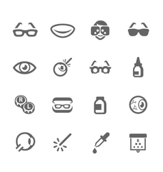 Optometry icons vector image