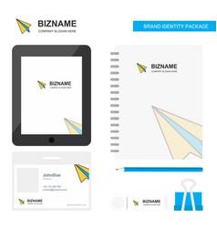 paper plane business logo tab app diary pvc vector image