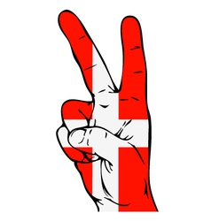 Peace Sign of the Danish flag vector